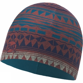 Buff Buff Microfibre & Polar Hat Patterned Tribal Blanquet Multi