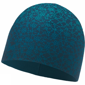 Buff Microfibre & Polar Hat Patterned