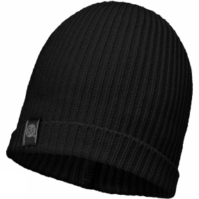 Buff Basic Knitted Hat Black