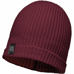Buff Basic Knitted Hat Wine