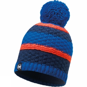 Buff Buff Fizz Knitted Hat Blue Skydiver