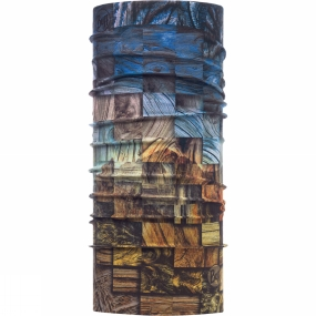 Buff High UV Protection Buff Patterned Wood Collage Multi