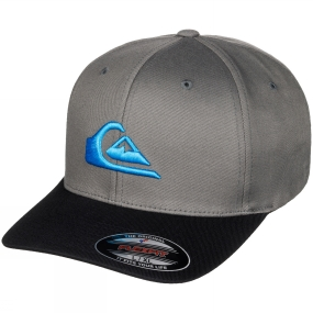 Quiksilver Mountain and Wave Flexfit Cap Used Tarmac
