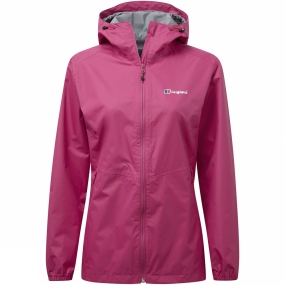 Berghaus Berghaus Womens Deluge Light Jacket Pink Peacock