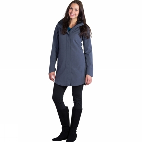 ExOfficio Womens Emei Trench Carbon