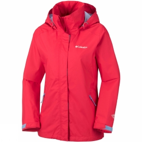 Columbia Columbia Womens Trestle Trail Hooded Jacket Red Camellia
