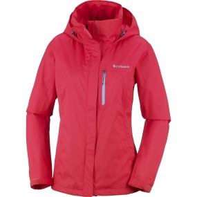 Columbia Columbia Womens Pouration PW Jacket Red Camellia