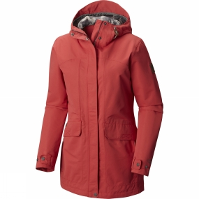 Columbia Columbia Womens South Canyon Long Hooded Jacket Sunset Red