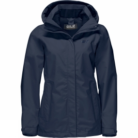 Jack Wolfskin Jack Wolfskin Womens Seven Lakes Jacket Midnight Blue