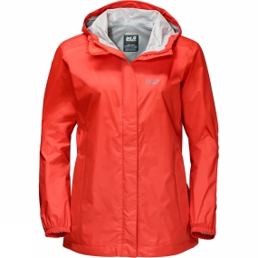 Jack Wolfskin Jack Wolfskin Womens Cloudburst Jacket Lobster Red