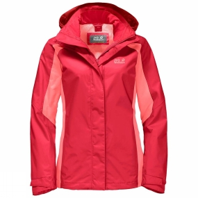 Jack Wolfskin Jack Wolfskin Womens The Esmeraldas Jacket Tulip Red