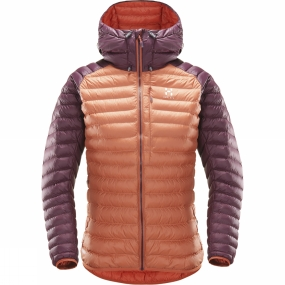 Haglofs Womens Essens Mimic Hood Dusty Rust/Aubergine