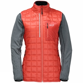 Jack Wolfskin Jack Wolfskin Womens DryNetic 3-in-1 Jacket Hot Coral