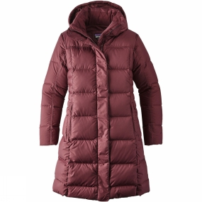 Patagonia Patagonia Womens Down With It Parka Dark Ruby