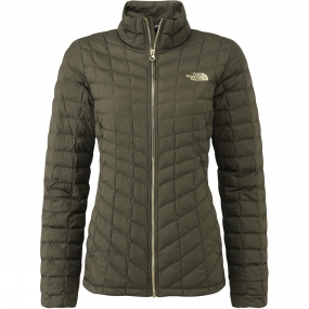 The North Face The North Face Womens ThermoBall Full Zip Jacket New Taupe Green