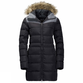 Jack Wolfskin Jack Wolfskin Womens Baffin Island Coat Black/Alloy Heather
