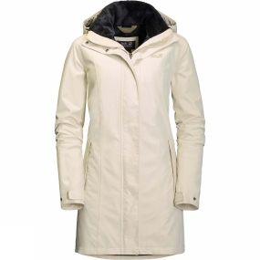 Jack Wolfskin Jack Wolfskin Womens Madison Avenue Coat White Sand