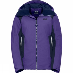 Jack Wolfskin Jack Wolfskin Womens Exolight Base Jacket Dark Violet
