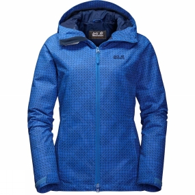 Jack Wolfskin Jack Wolfskin Womens Chilly Sunrise Jacket Coastal Blue Allover