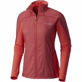 Columbia Columbia Womens Caldorado Insulated Jacket Red Coral Translucent / Red Cor
