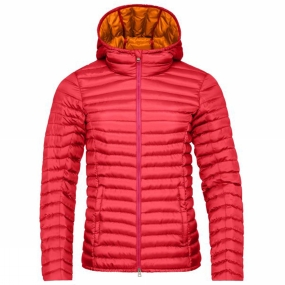 KJUS Womens Cypress Hooded Down Jacket Persian Red / Orange