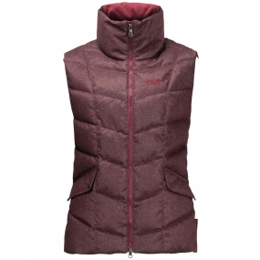 Jack Wolfskin Jack Wolfskin Womens Baffin Bay Gilet Dark Red