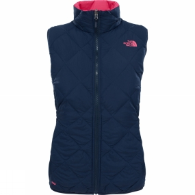 The North Face The North Face Womens Zip-In Reversible Down Vest Urban Navy