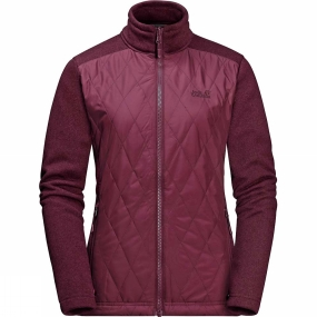 Jack Wolfskin Jack Wolfskin Womens Echo Pass 3in1 Jacket Garnet Red