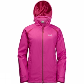 Jack Wolfskin Jack Wolfskin Womens Hopewell Rocks 3in1 Jacket Fuchsia