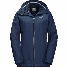 Jack Wolfskin Jack Wolfskin Womens Colorado Flex 3in1 Jacket Navy Blue