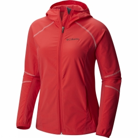 Columbia Columbia Womens Sweet As Softshell Hoodie Red Camellia
