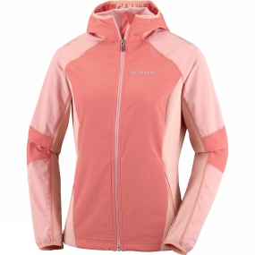 Columbia Columbia Womens Sweet As Softshell Hoodie Lychee / Light Coral
