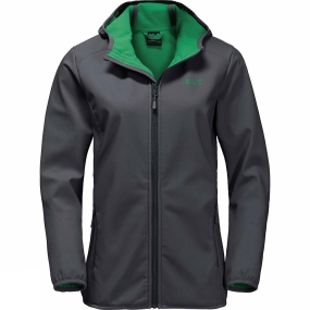 Jack Wolfskin Jack Wolfskin Womens Northern Point Softshell Jacket Ebony