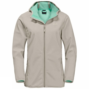 Jack Wolfskin Jack Wolfskin Womens Northern Point Softshell Jacket Dusty Grey