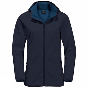 Jack Wolfskin Jack Wolfskin Womens Northern Point Softshell Jacket Midnight Blue/Ocean Wave