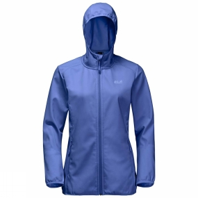 Jack Wolfskin Jack Wolfskin Womens Northern Point Softshell Jacket Baja Blue/Pale Purple