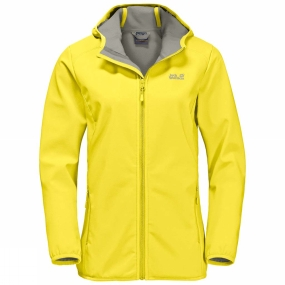 Jack Wolfskin Jack Wolfskin Womens Northern Point Softshell Jacket Buttercup/Alloy