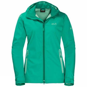 Jack Wolfskin Jack Wolfskin Womens Cusco Valley Softshell Jacket Deep Mint