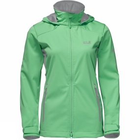 Jack Wolfskin Jack Wolfskin Womens Cusco Valley Softshell Jacket Spring Green