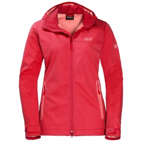 Jack Wolfskin Jack Wolfskin Womens Cusco Valley Softshell Jacket Tulip Red