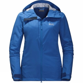 Jack Wolfskin Jack Wolfskin Womens Gravity Flex Softshell Jacket Coastal Blue