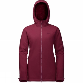 Jack Wolfskin Jack Wolfskin Womens Rock Valley Long Jacket Garnet Red