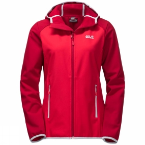 Jack Wolfskin Jack Wolfskin Womens Zenon Softshell Jacket True Red