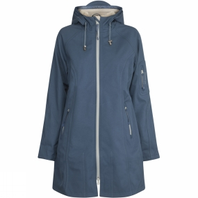 Ilse Jacobsen Ilse Jacobsen Womens Rain37B 3/4 Raincoat Blue Rock
