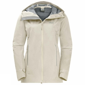 Jack Wolfskin Jack Wolfskin Womens Green Valley Jacket Long White Sand
