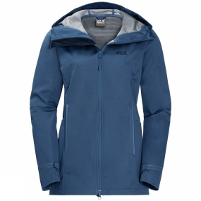 Jack Wolfskin Jack Wolfskin Womens Green Valley Jacket Long Ocean Wave