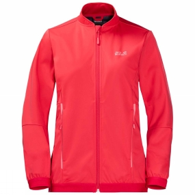 Jack Wolfskin Jack Wolfskin Womens Green Valley Jacket Tulip Red