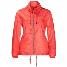 Jack Wolfskin Jack Wolfskin Womens Shibori Jacket Hot Coral All Over