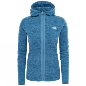 The North Face The North Face Womens Nikster Full Zip Hoodie Provincial Blue Dark Heather