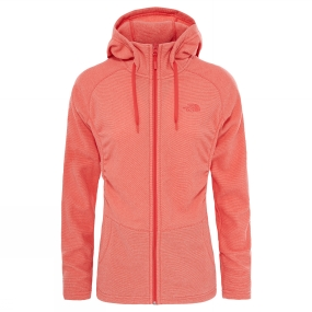 The North Face The North Face Women's Mezzaluna Full Zip Hoodie Cayenne Red Stripe